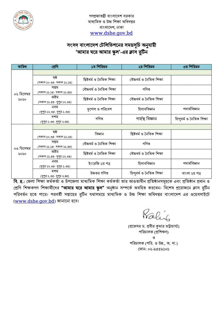 Amar ghore amar school-Class 6-7-8-9-10 tv - 27-11-2020-p2