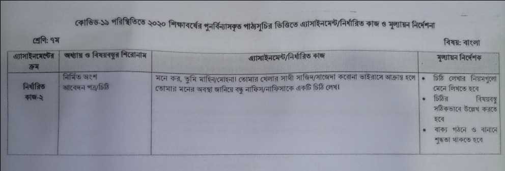 Class 7 assignment - 6th week - bangla math agriculture - page-1